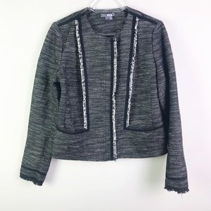 Vince Tweed Jacket With Frayed Detailing